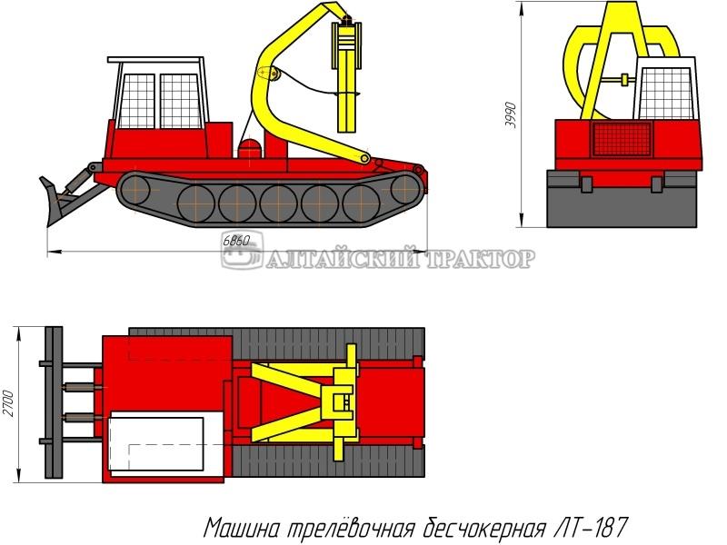 трелевочная бесчокерная ЛТ-187